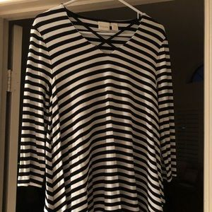 Chico's striped long sleeve blouse